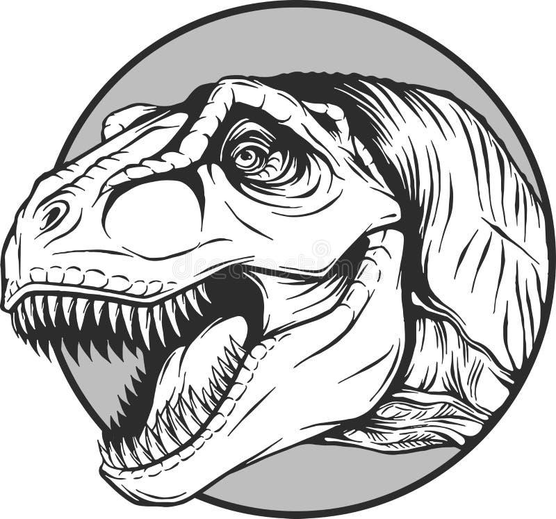 Esboço de um dinossauro dos desenhos animados no illustartion do vetor ilustração royalty free