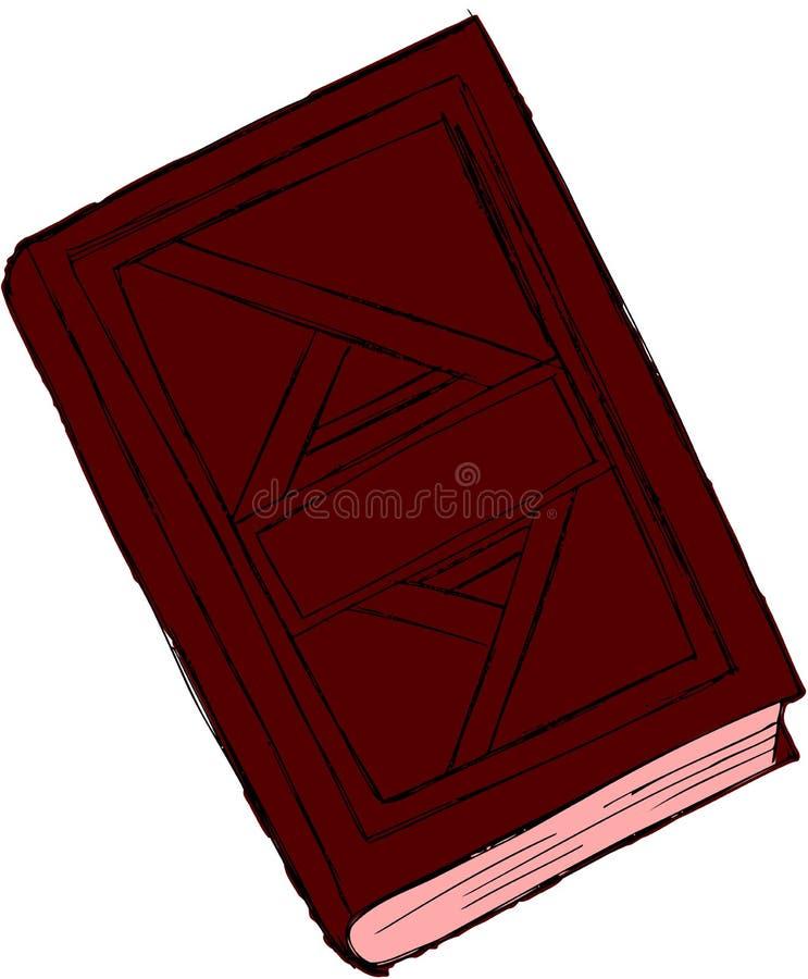 Esboço de um livro estilizado ilustração stock