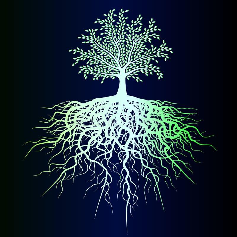 Esboço de uma árvore verde do inclinação ilustração royalty free