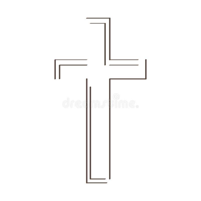 Esboço de uma cruz ilustração royalty free