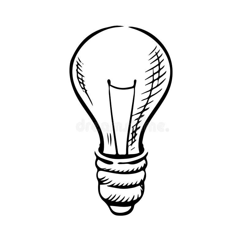 Esboço do ícone da ampola ilustração do vetor