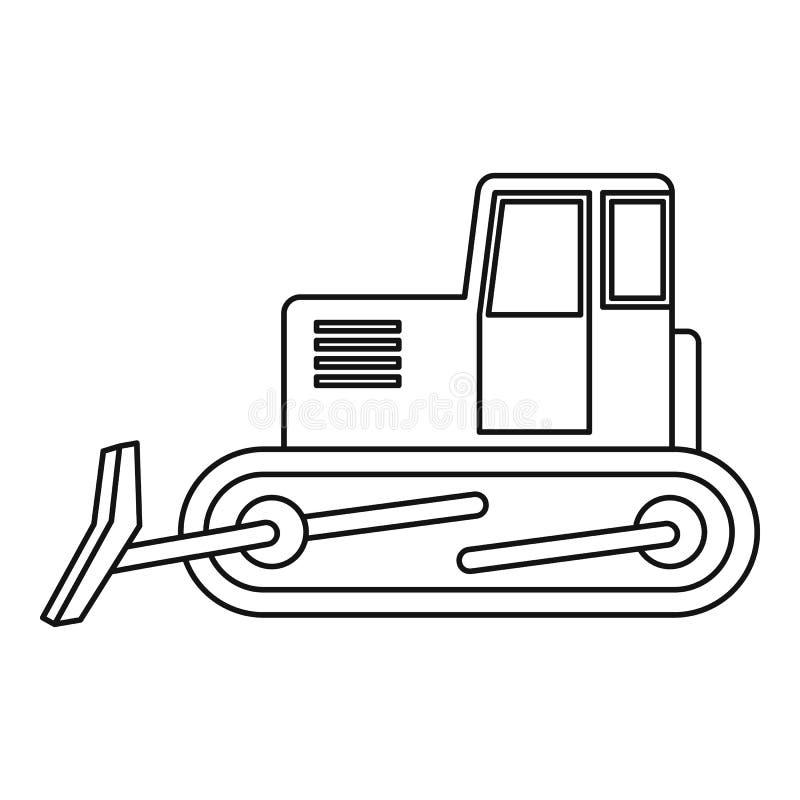 Esboço do ícone da escavadora ilustração royalty free