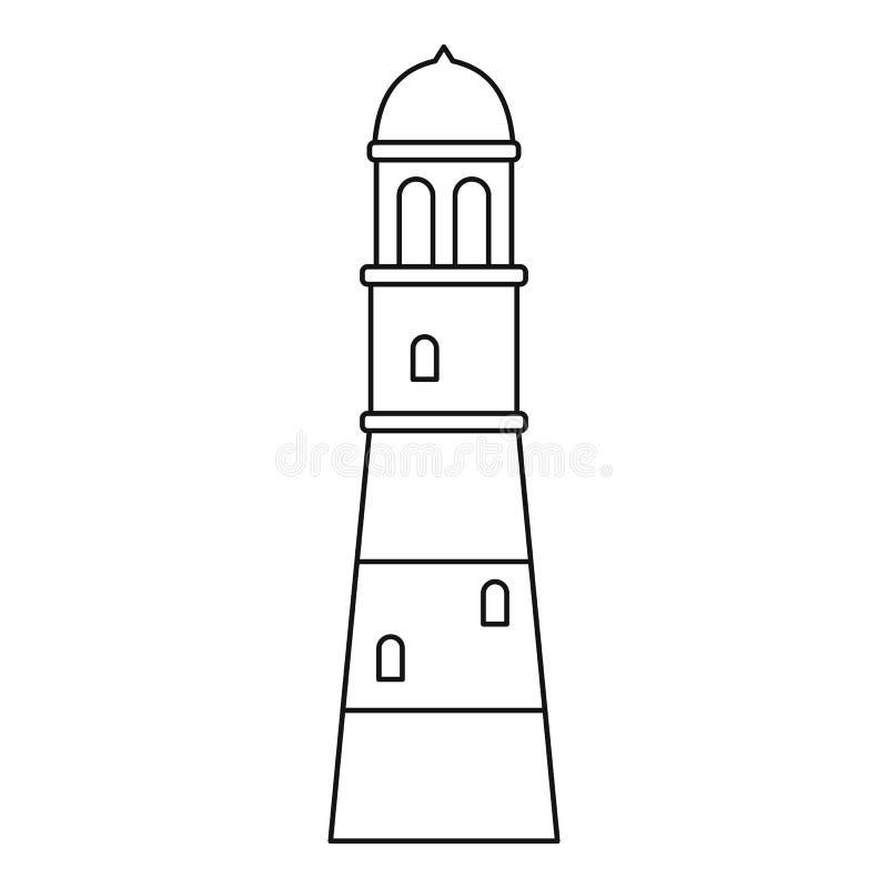 Esboço do ícone do farol ilustração do vetor