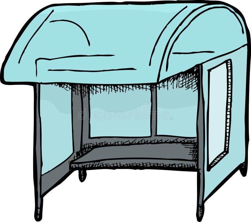 Esboço do abrigo de ônibus ilustração do vetor