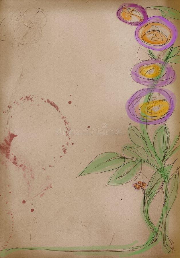 Download Esboço Do Artista: Desenho Da Mão Das Flores Ilustração Stock - Ilustração de classical, papel: 10051179