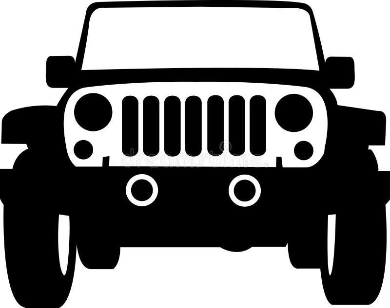 Esboço do caminhão do jipe ilustração royalty free
