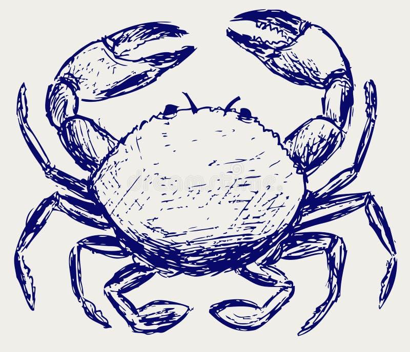 Download Esboço do caranguejo ilustração do vetor. Ilustração de mão - 26513832