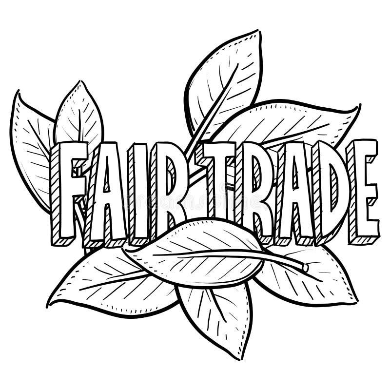 Esboço do comércio justo ilustração do vetor