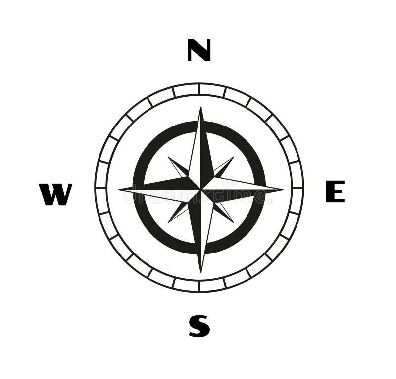 Esboço do compasso ilustração do vetor