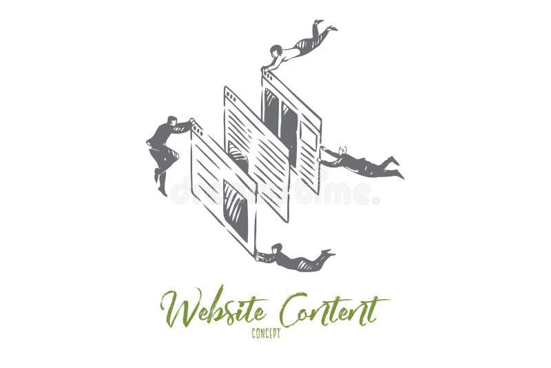Esboço do conceito do índice do Web site Ilustra??o isolada do vetor ilustração stock