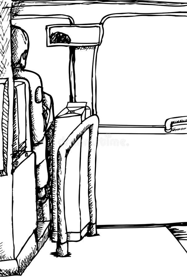 Esboço do condutor de ônibus ilustração royalty free
