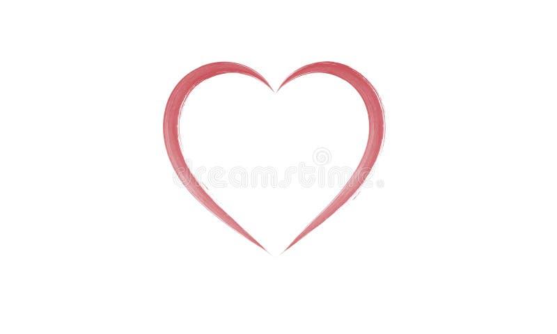 Esboço do coração do Watercolour ilustração do vetor