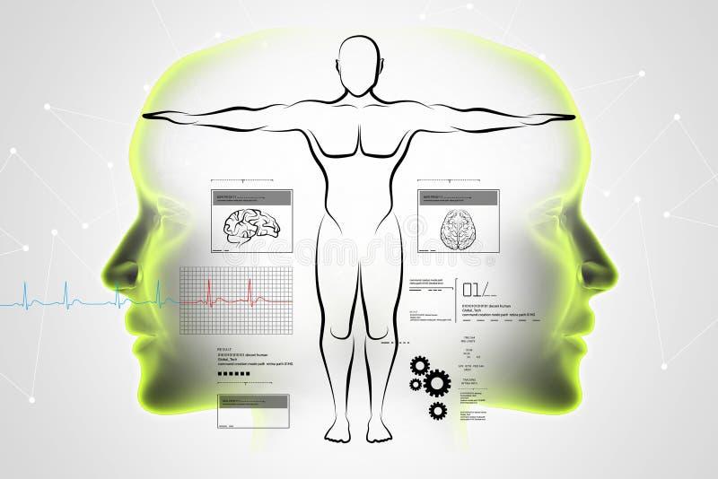 Esboço do corpo humano ilustração do vetor