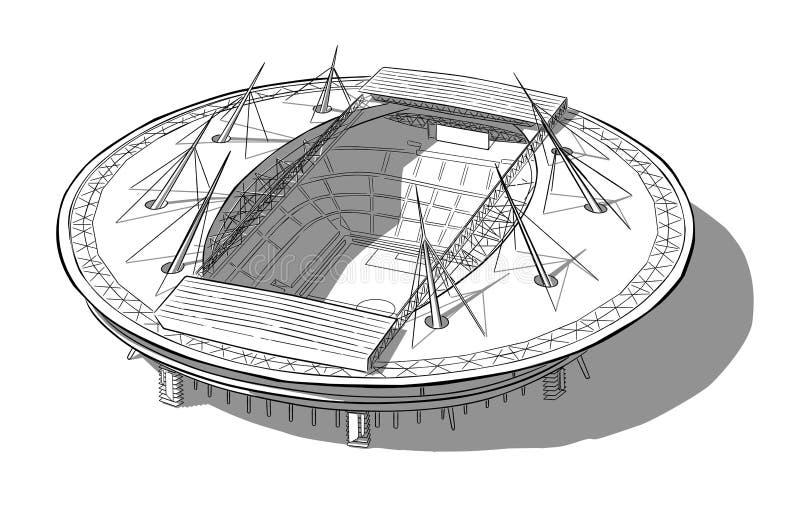 Esboço do estádio novo em St Petersburg ilustração do vetor