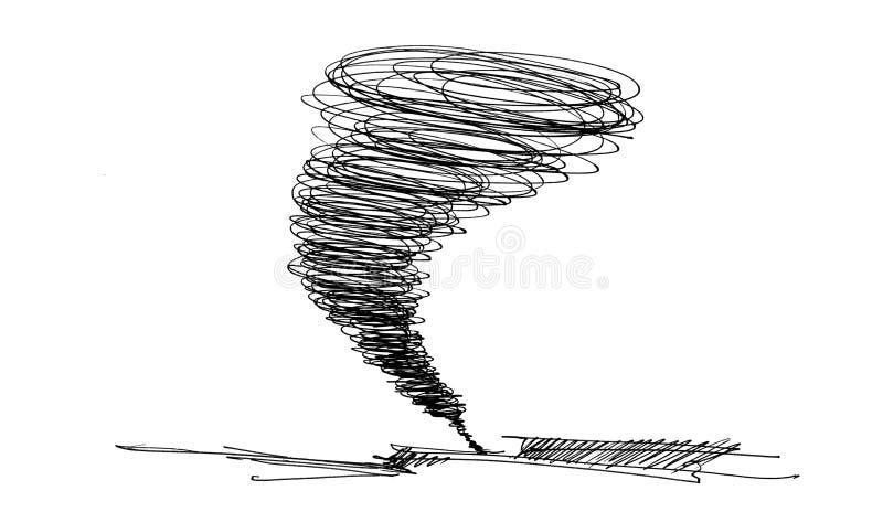 Esboço do furacão ilustração do vetor