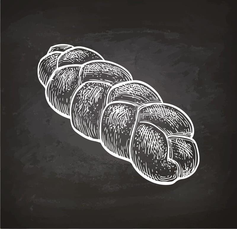 Esboço do giz do pão do Chalá ilustração stock