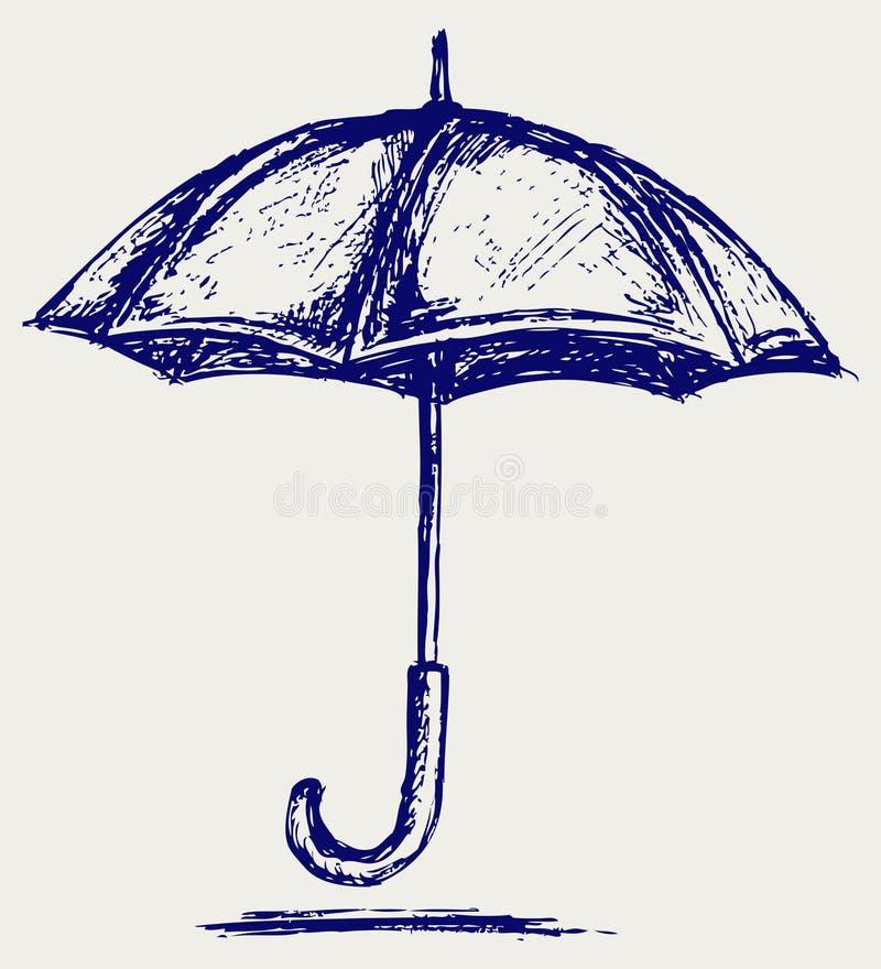 Esboço do guarda-chuva ilustração stock
