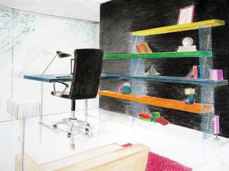 Esboço do interior ilustração stock