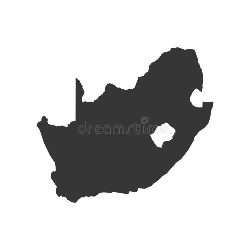 Esboço do mapa de África do Sul ilustração royalty free