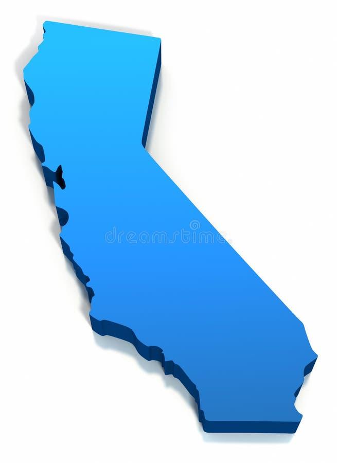 Esboço do mapa de Estados Unidos Califórnia ilustração royalty free