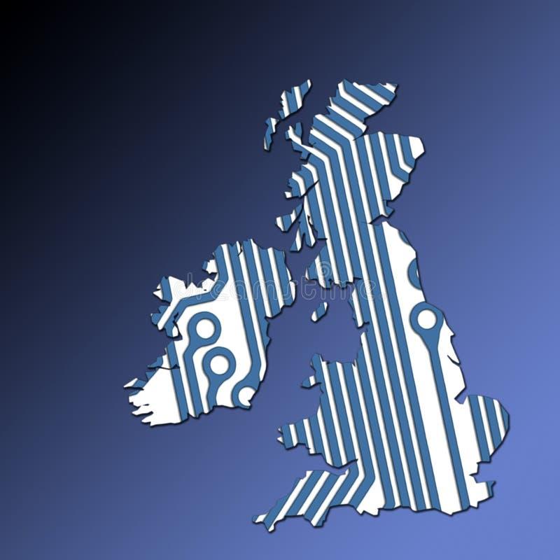 Esboço do mapa do Reino Unido e do Ireland ilustração stock