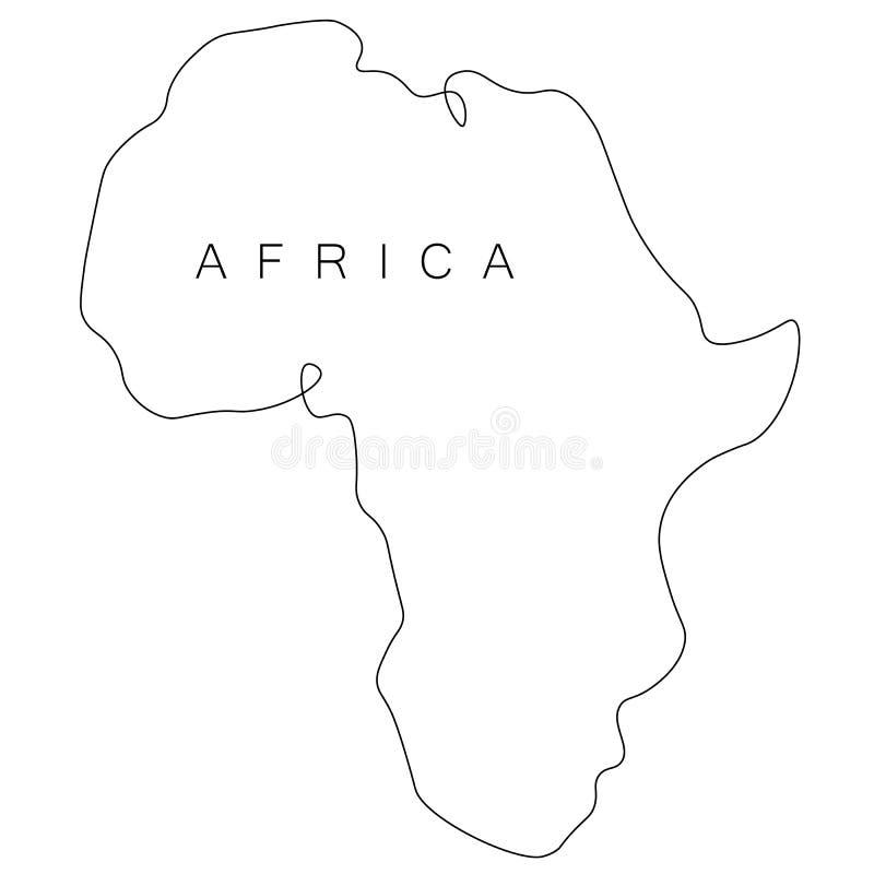 Esboço do mapa do mundo de África, vetor ilustração do vetor