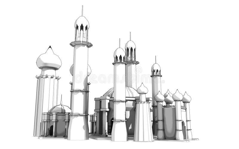 Esboço do palácio ilustração royalty free