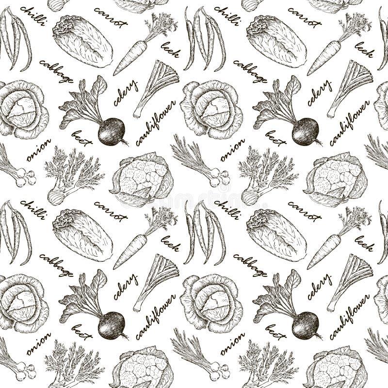 Esboço do patt de Veget ilustração stock