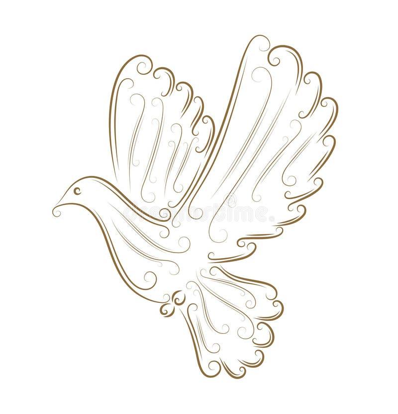 Esboço do pombo ilustração royalty free