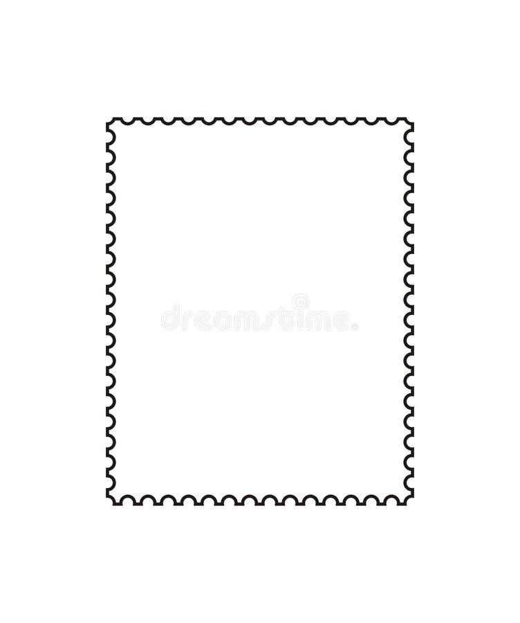 Esboço do selo de porte postal ilustração stock