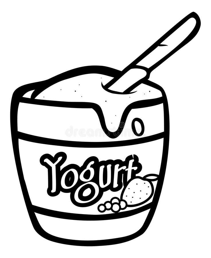 Esboço do Yogurt ilustração stock
