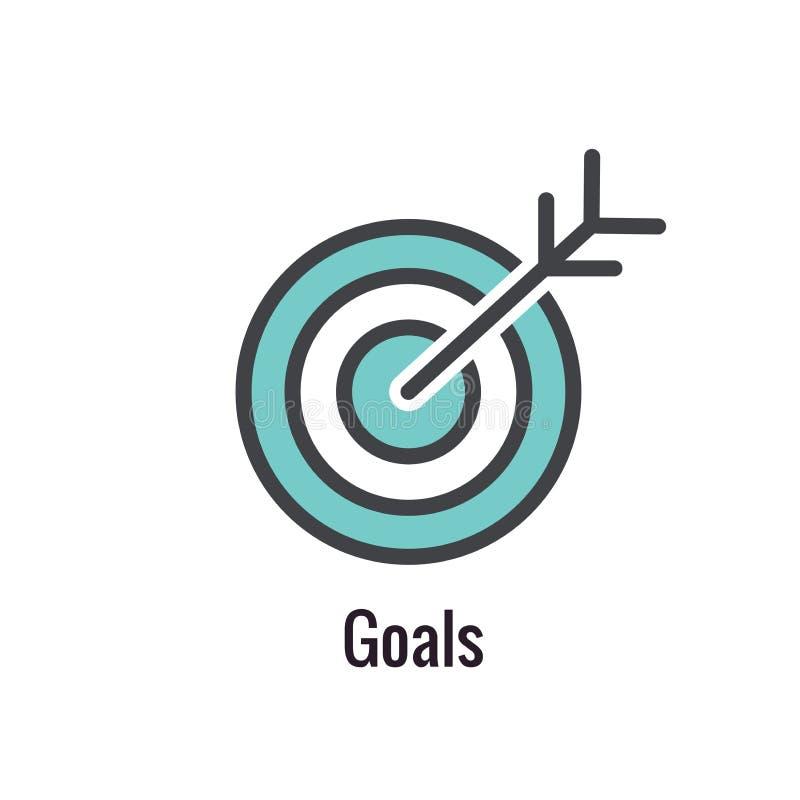 Esboço dos valores do núcleo ou linha ícone que transporta a finalidade específica ilustração stock