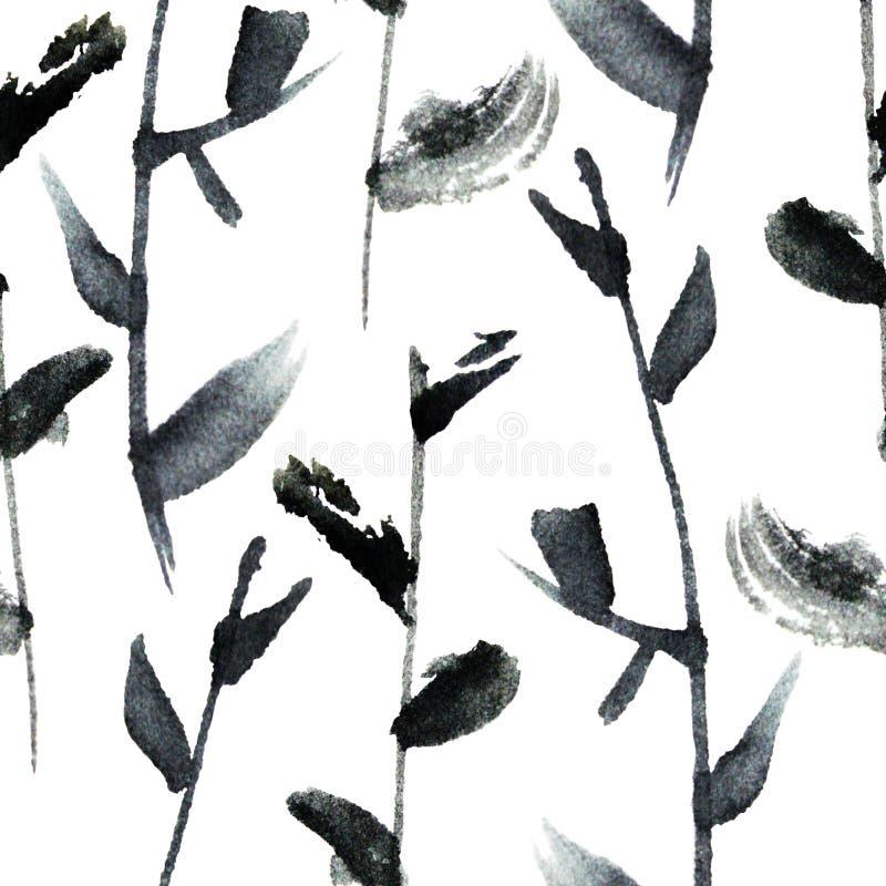 Esboço gráfico da tinta ilustração stock