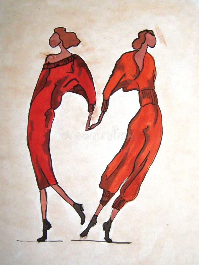 Esboço Hand-drawn de uma forma ilustração do vetor