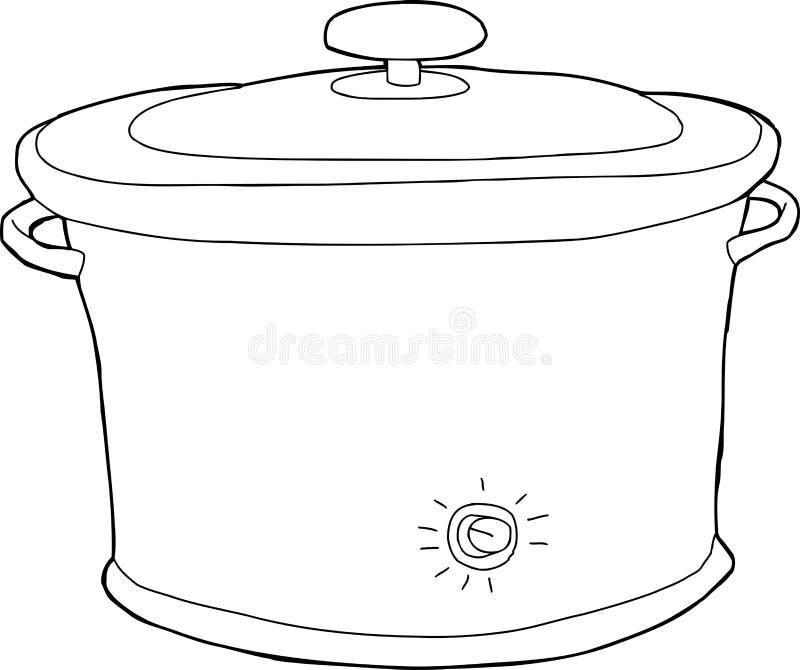 Esboço lento do fogão ilustração royalty free
