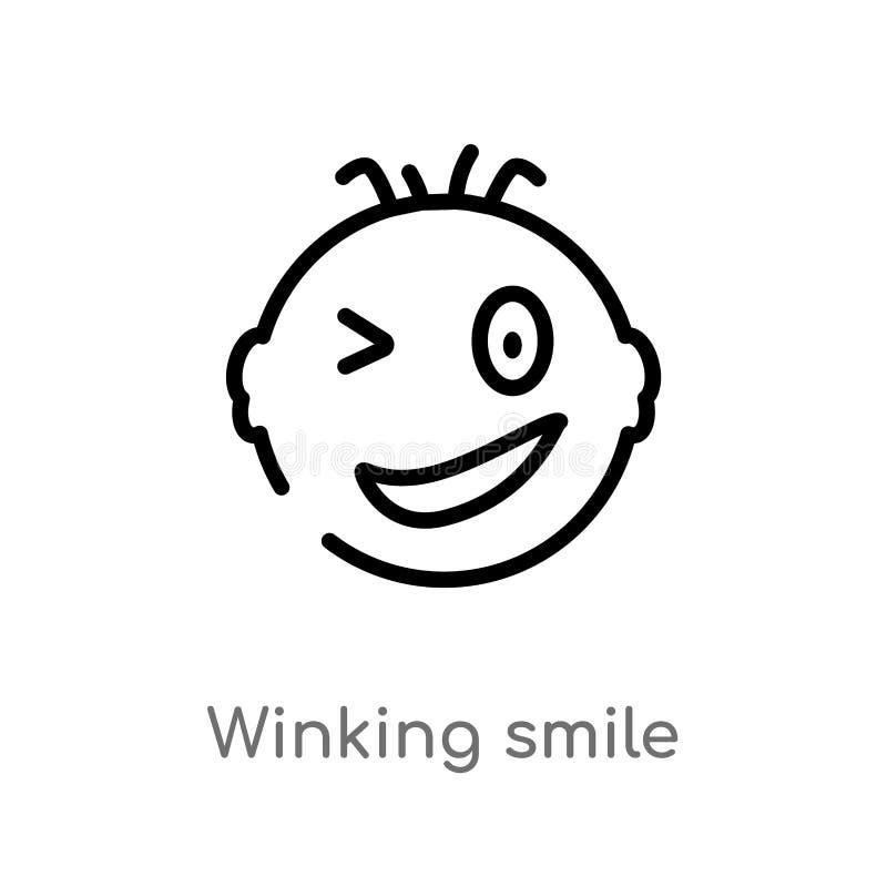 esbo?o que pisc o ?cone do vetor do sorriso linha simples preta isolada ilustra??o do elemento do conceito da interface de usu?ri ilustração do vetor