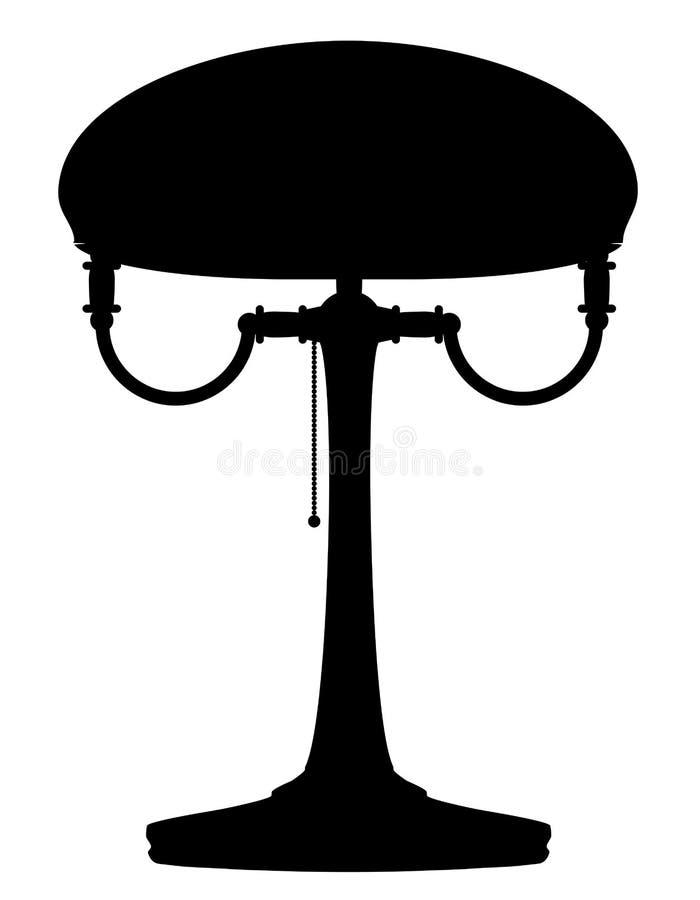 Esboço retro do preto da ilustração do vetor do estoque do ícone do vintage da lâmpada ilustração royalty free