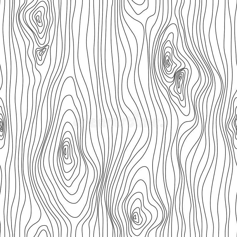 Esboço sem emenda da textura de madeira r r Fundo do vetor ilustração do vetor