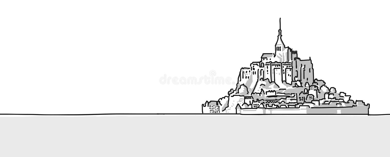 Esboço tirado Michel Hand do St da montagem ilustração royalty free