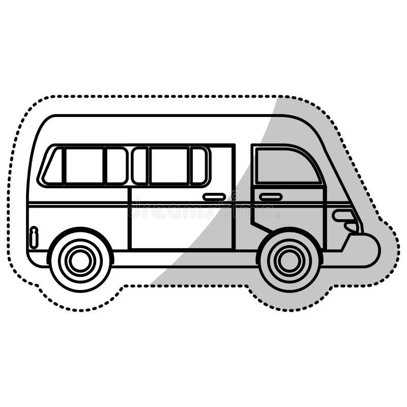 esboço urbano do veículo de transporte da camionete ilustração stock