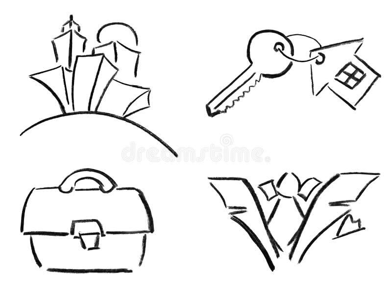 Esboços Do Lápis Imagens de Stock Royalty Free