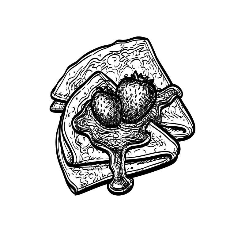 Esbozo de tinta de blini libre illustration