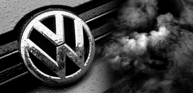 Escándalo del fraude de Volkswagen imagen de archivo libre de regalías