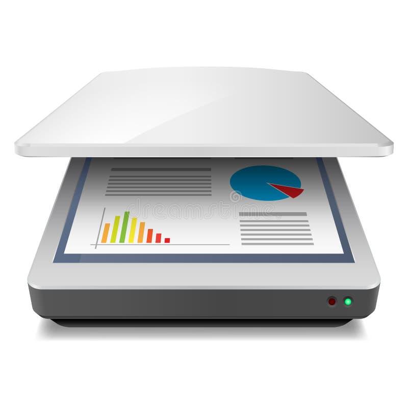 Escáner stock de ilustración