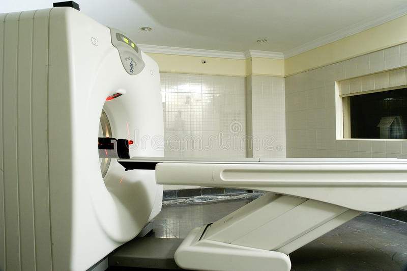 Escáner lleno del CT del cuerpo en hospital fotos de archivo libres de regalías