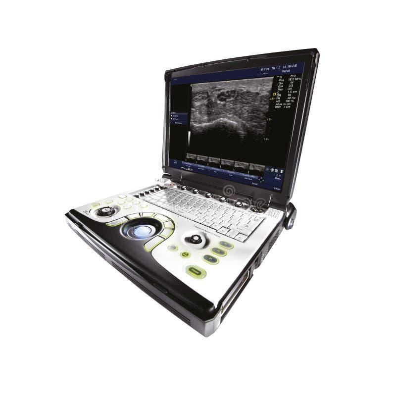 Escáner universal del ultrasonido, aislado en el fondo blanco Equipamiento médico imágenes de archivo libres de regalías