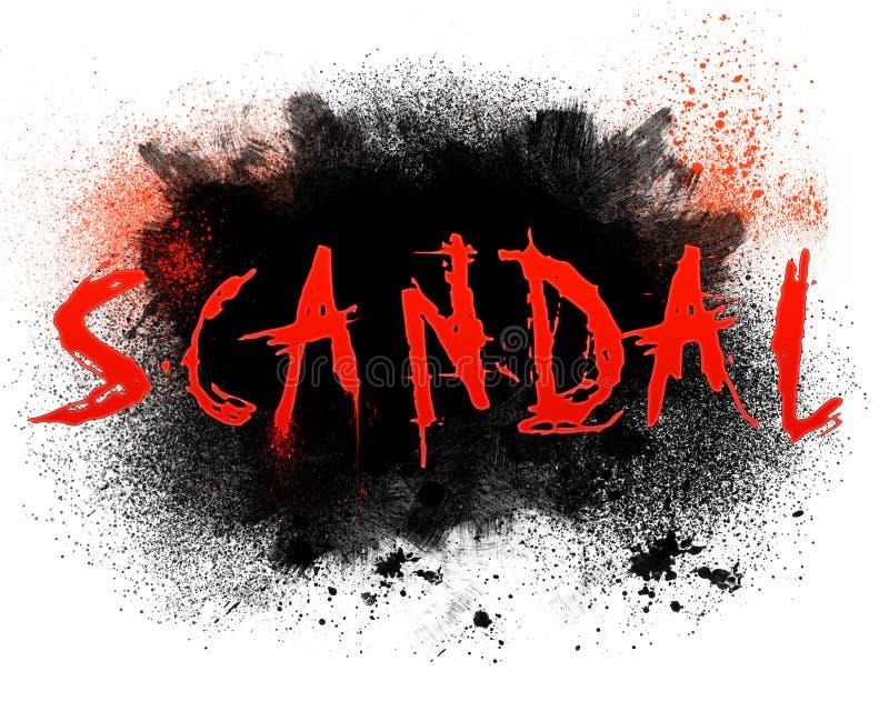 Escândalo ilustração royalty free