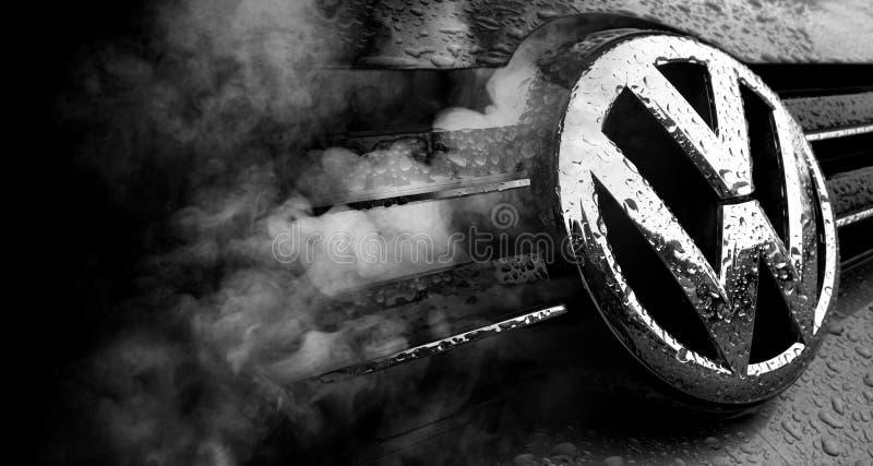 Escândalo da fraude de Volkswagen fotografia de stock