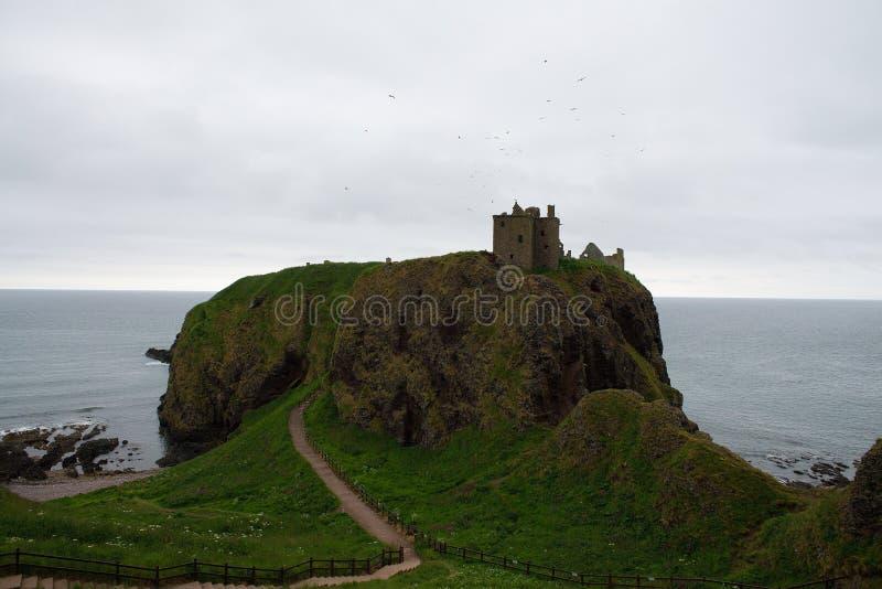 Escócia, castelo de Dunnotar fotografia de stock royalty free