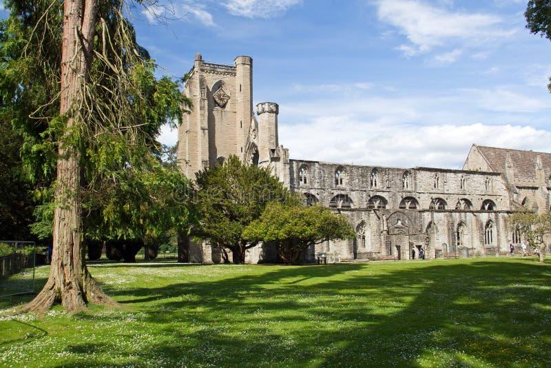 Escócia, catedral do dunkeld foto de stock